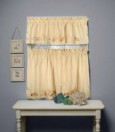 Seabreeze 57x13 Valance in Sand by Saturday Knight Ltd. $14.44. 57'' wide x 13'' long. 100% polyester - Machine Washable. Standard rod pocket. See Close Up image for actual color. Sea Breeze - Sandy Peach - Valance. THIS IS THE TOP PART ONLY - BOTTOM PARTS ARE SOLD SEPARATELY
