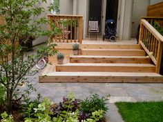 Exteriors For Living: Leaside Garden Room 2019 Exteriors For Living: Leaside Garden Room The post Exteriors For Living: Leaside Garden Room 2019 appeared first on Deck ideas. Patio Steps, Front Porch Steps, Front Porch Design, Front Deck, Porch Stairs, Front Stairs, Outdoor Stairs, Stairs For Deck, Corner Deck
