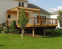 deck with pergola need help building this !!  Deck already done...