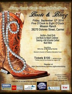 Come with your boots and bling