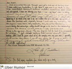 This girl's handwriting is the coolest thing I've seen all week. | Funny Pictures, Quotes, Pics, Photos, Images. Videos of Really Very Cute animals.