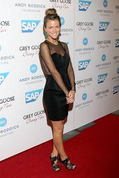Love this dress! Sheer Black Long-sleeves & Peplum