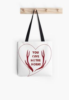 e53f8ef3827d You give me the horn – Graphic design series – Stag horns wrapped around  text and.