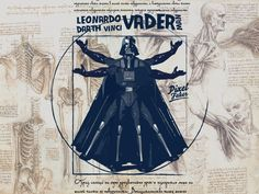 The #Darth #Vader man by Leonardo Da Vinci