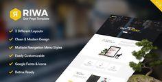 Riwa - One Page PSD