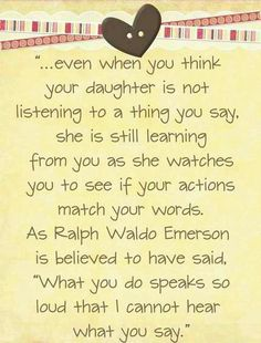 do your actions match your words?