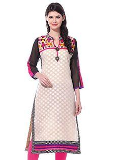 Lovable Women's Beige Cotton Regular Fit Kurti - http://www.zazva.com/shop/women/lovable-womens-beige-cotton-regular-fit-kurti/ Material: Cotton Silk; Colour: Cream Style: Straight; Sleeve Type: Long Sleeve Neck Type: V-Neck; Fit Type: Regular Fit
