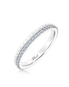 Platinum wedding band two-toned   Karl Lagerfeld 31-ka134-l    http://trib.al/dAR2jc0