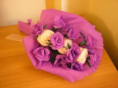 paper flowers and towels Paper Flowers, Bouquet, Rose, Towels, Crafts, Craft Ideas, Future House, Pink, Manualidades