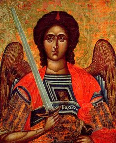 Icon Of The Angel Michael Painting by Greek School