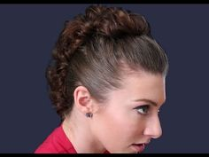 """""""How to Rock a Mohawk Without Chopping Your Hair Off"""" - to me its more of a fancy up do than a mohawk, but whatever"""
