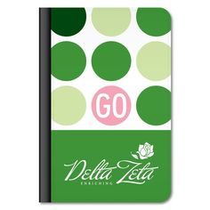 "Delta Zeta ""Polka Dot"" iPad Air Leather Protective Case"