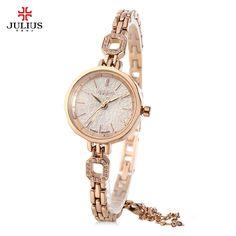 2017 Julius JA - 980 Women Luxury Brand Female Quartz Lady Watches Brandwatches Dress Watch Ultra Thin Rose Gold Analog Display