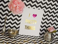 All Things Pretty - personalized #gold #prints