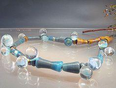 Long Neckpiece Lampwork Necklacehandmade von manuelawutschke