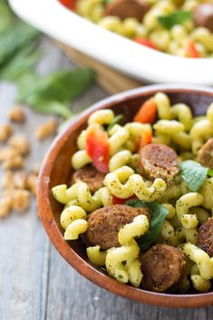 Pesto Pasta with Turkey Sausage