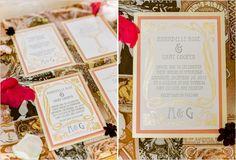 Art Nouveau wedding invite