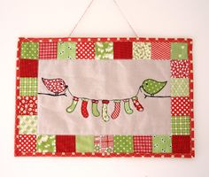 Why Not Sew?: Christmas stocking bird wall hanging.