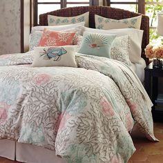 Coastal White Amp Teal Del Ray Quilt Set Such Sweet Seaside
