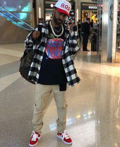 "BIGSEAN (@bigsean) on Instagram: ""Airport flow ✈️ meet me in Dubai dawg"" Black Men Street Fashion, Trendy Mens Fashion, Stylish Mens Outfits, Dope Fashion, Fashion Killa, Fashion Outfits, Fashion Ideas, Fashion Inspiration, Celebrity Sneakers"