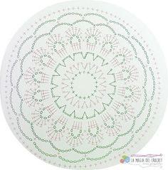 Ideas Mandalas para atrapasueños en crochet ⋆ Manualidades Y DIY Granny Square Häkelanleitung, Granny Square Crochet Pattern, Crochet Diagram, Crochet Chart, Crochet Granny, Motif Mandala Crochet, Crochet Motifs, Crochet Doilies, Crochet Flowers