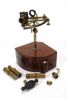 19th Century mahogany cased marine sextant