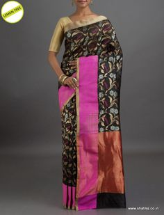 Lemon Tree Bold Designer #ChanderiSilkSaree