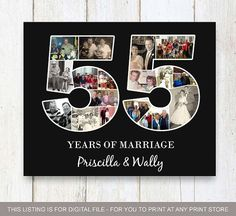 50th Anniversary Photo Collage For Parents
