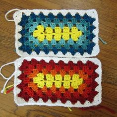 Just Crafty Enough – Granny Square Sampler Afghan – Week 14 Crochet Squares Afghan, Granny Square Crochet Pattern, Crochet Blocks, Crochet Blanket Patterns, Crochet Granny, Crochet Motif, Crochet Designs, Crochet Stitches, Granny Squares