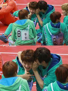 EXO-K Baekhyun & Chanyeol // Idol Star Athletic Championship