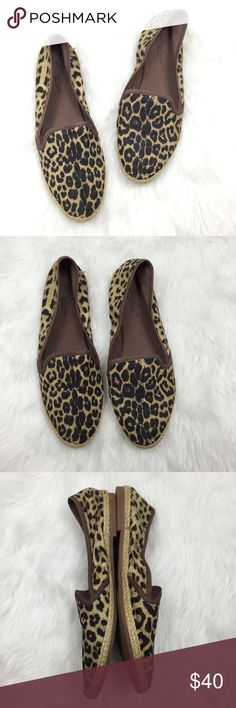🎁LUCKY BRAND Cheetah Espadrille Canvas Flats ~Get these cheetah print canvas flats! ~Bring that touch of glam to any outfit! ~These are made with canvas material with a cheetah print. ~They are in the style of espadrilles flats. ~These have minor wear.  They are in fantastic condition! ~Get these now!  They  will go super fast! ~NO TRADES Lucky Brand Shoes Espadrilles