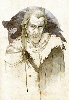 Rickard Stark - Game Of Thrones - elia-illustration
