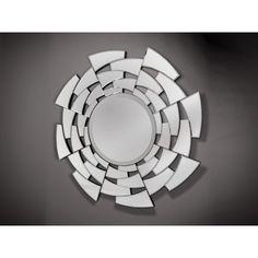 Mirror Collage, Mirror Art, Large Round Mirror, Round Mirrors, Bathroom Mirror Design, Spiegel Design, Mirror Inspiration, Mirror Panels, Glass Vanity