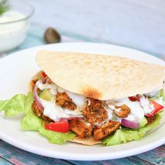 Tzatziki, Gyro Wrap, Lunch Snacks, Greek Recipes, Kids Meals, Nom Nom, Bbq, Food And Drink, Healthy Recipes