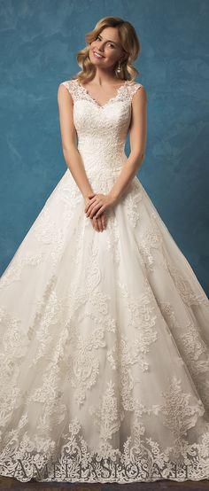 Amelia Sposa V-cleavage and skirt wedding dresses Melania 2017