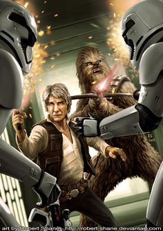 Han Solo and Chewbacca from The Force Awakens by Robert-Shane on DeviantArt