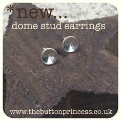 Another brand new make from The Button...  *Super shiny hand-cut and domed sterling silver stud earrings.   *I'm yet to list them in my little online shop, so they are a Pintetest exclusive*   Reasonably priced at £12 plus p&p. There is only ONE pair so they are on a first come, first serve basis...get 'em while they're fresh  If you're interested, drop me a message here or email me at info@thebuttonprincess.co.uk   www.thebuttonprincess.co.uk  #jewellery #jewelry #silver #handmade #original…