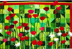 Tall Poppies  pretty pieced & applique quilt PATTERN  by kate54, $21.50