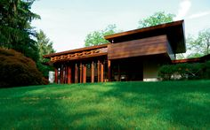 Frank Lloyd Wright Usonian house, known as the Bachman Wilson House in New Jersey.