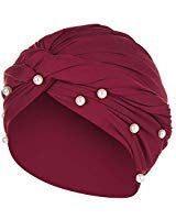 Eg /_ Damen Vintage Blumen Sonne Muslimisch Kappe Stretch Turban Hut Kopf Schal
