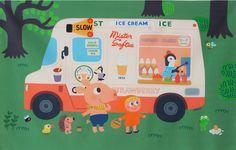 Kawaii gooly gooly ice cream truck cotton