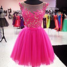 Homecoming Dress,pink prom dress,short prom dresses,pink homecoming dresses,modest