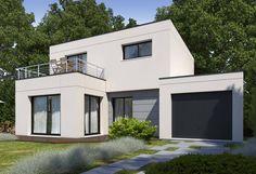 Rendu 2 de la maison individuelle Habitat Concept 82 My House Plans, Construction, Good Company, Ideas Para, How To Plan, Mansions, House Styles, Villas, 1
