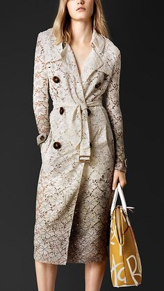 http://rstyle.me/n/uxia9sgg6 Honey white Dégradé Lace Trench Coat