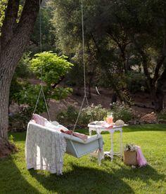 Shabby Chic Romantic Cottage Tree Swing