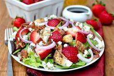 Loaded Strawberry Fields Salad by Iowa Girl Eats