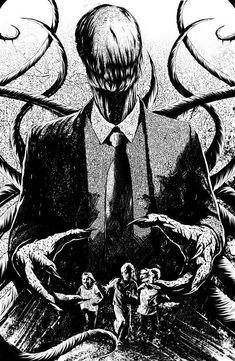 Read Slenderman from the story Fotos de Creepypastas by langedefeu (𝓁𝑜𝓁𝒶) with reads. Slender Man, Creepy Drawings, Creepy Art, Animal Drawings, Arte Horror, Horror Art, Beste Gif, Creepypasta Slenderman, Creepy Pasta Family