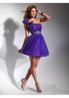 encolure asymétrique a-line 2012 robe de cocktail courte