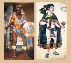 Two Aztec kings, Moctezuma of Tenochtitlan and Nezahualpilli of Texcoco.  http://www.mexicolore.co.uk/images-5/588_02_2.jpg