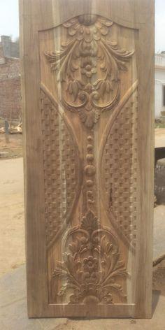 Single Door Design, Front Door Design Wood, Door Gate Design, Main Door Design, Wooden Door Design, Wooden Doors, Duplex House Design, Single Doors, Wood Carvings